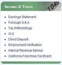 Income and Taxes Menu