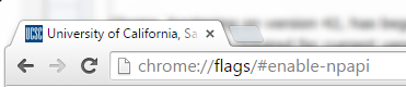 Chrome URL Location