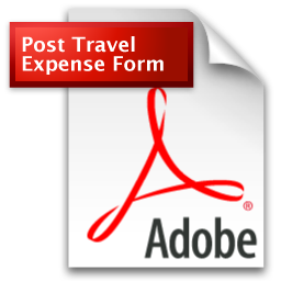 Post Travel Expense Form